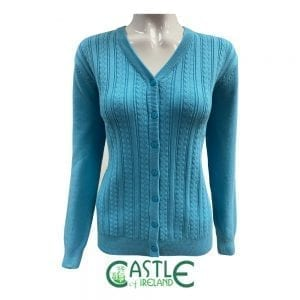 V-neck Cardigan in turquoise