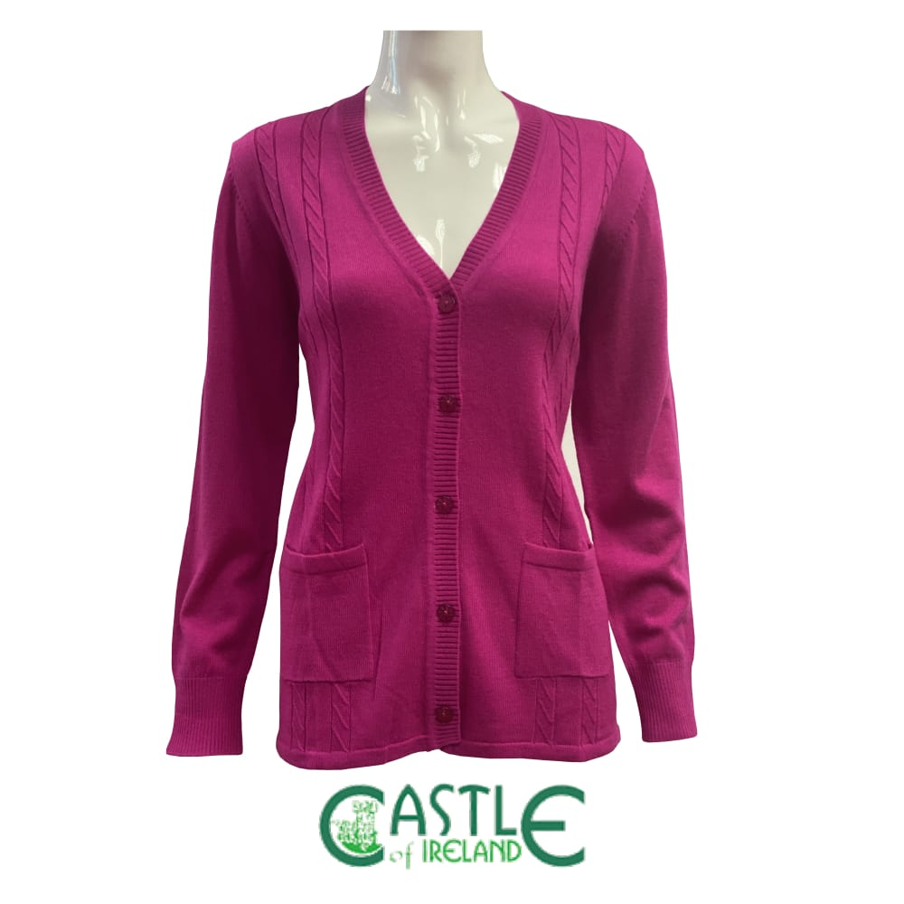 Castle Knitwear Knitted V-Cardigan with pockets