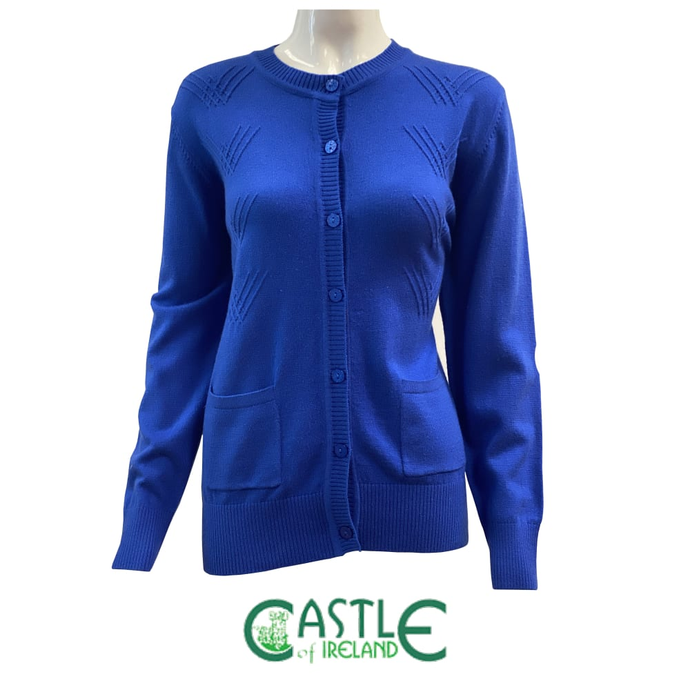 Lumber Neck Cardigan in Blue Moon Colour