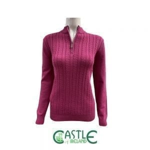 1/4 zip 'baby cable' sweater